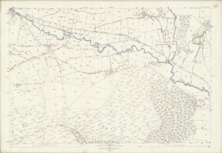 Shropshire LXXVI.8 (includes: Bucknell; Clun; Hopton Castle; Stowe) - 25 Inch Map