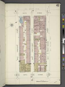 Manhattan, V. 2, Plate No. 42 [Map bounded by 6th Ave., W. 22nd St., 5th Ave., W. 20th St.]