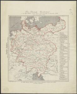 Der Deutsche Bundesstaat in 23 Republiken nach Struve's Grundrechten des deutschen Volks