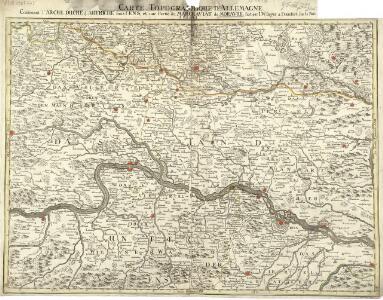 Carte Topographique d'Allemagne.