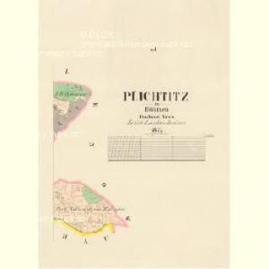 Plichtitz - c5839-1-002 - Kaiserpflichtexemplar der Landkarten des stabilen Katasters
