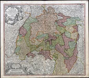 S. R. I. Circulus Sueviae Continens Ducatum Wirtenbergensem Aliosq[ue] Status Et Provincias Eidem Circulo Insertas