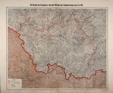 Die Grenzen des Saargebietes nach dem Wortlaut des Friedensvertrages vom 25. 6. 1919