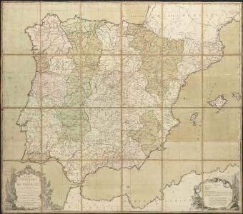 Carte d'Espagne et de Portugal, comprenant les routes de poste et autres de ces deux roiaumes