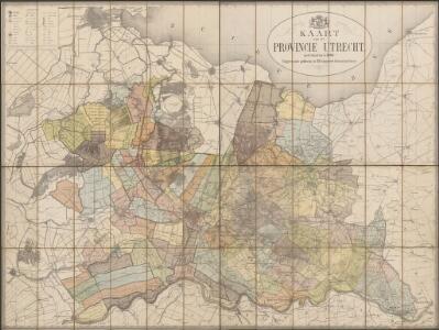 Kaart van de provincie Utrecht op de schaal van 1 à 50.000