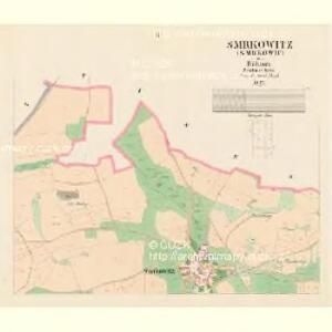 Smrkowitz (Smrkowic) - c7092-1-002 - Kaiserpflichtexemplar der Landkarten des stabilen Katasters