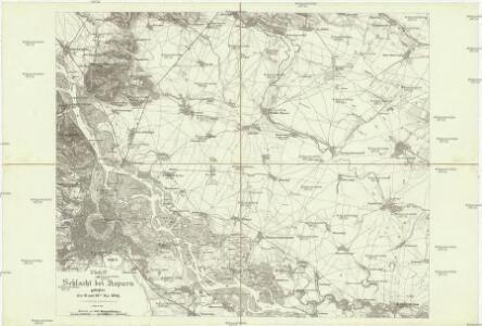 Plan zur Schlacht bei Asparn geliefert den 21 und 22ten Mai 1809