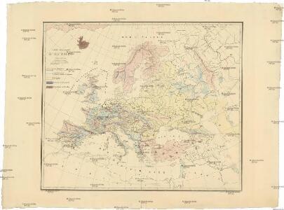 Carte géologique d'Europe