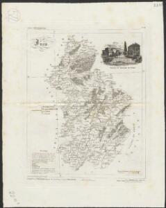 [Atlas départemental : La France et ses colonies] No. 38 Jura