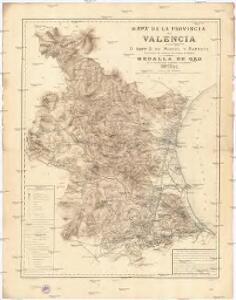 Mapa de la provincia de Valencia
