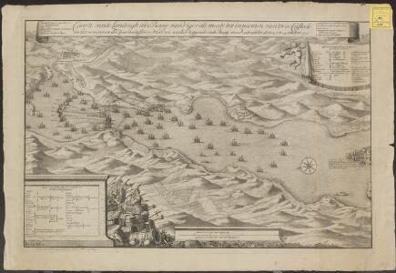 Caarte van de landingh inde Baaij van Vigos als meede het inneemen van twee Casteels en het verooveren der Spaansche silvre vloot ten ancker leggende inde Baaij voor Redondella den 23 en 24 october 1702
