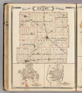 Map of Henry County (with) New Castle, Knightstown.