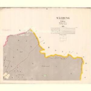 Mähring - c8200-1-002 - Kaiserpflichtexemplar der Landkarten des stabilen Katasters
