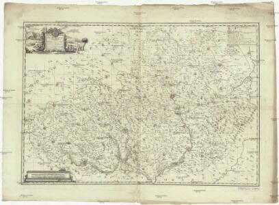 Das Markgraftum Maehren mit der Aelteren und im Jahr 1783 abgeaenderten Eintheilung der Kreisen, auch Bezeichnung der Granze der Olmütz Dioeces in Schlesien