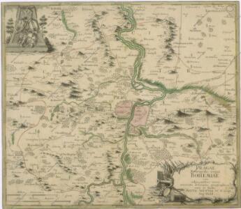 Mapa Prahy a okolí