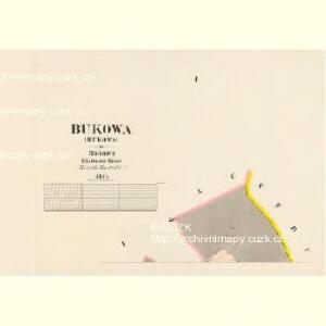 Bukowa - c0657-1-001 - Kaiserpflichtexemplar der Landkarten des stabilen Katasters