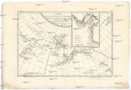 Carte de la côte N.O. del'Amerique et de la côte N.E. de l Asie reconnues en 1778 et 1779