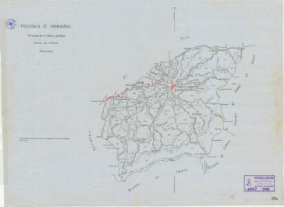 Mapa planimètric de la Palma d'Ebre