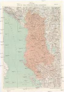 G. Freytags Karte des Fürstenthums Albanien