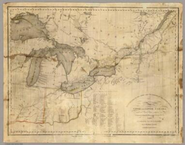 This map of Upper and Lower Canada and United States.