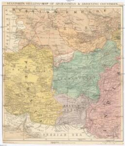 Stanford's shilling map of Afganistan & adjoining contries