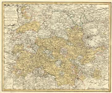 Mappa Geographica exhibens Principatvm Brandenbvrgico Onolsbacensem, una cum finitimis Regionibus Terrisque