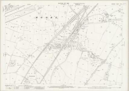 Cheshire XVI.14 (includes: Cuerdley; Daresbury; Moore; Norton; Penketh; Walton) - 25 Inch Map