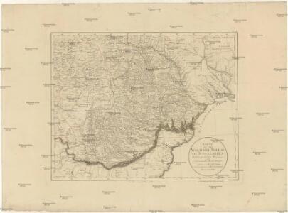 Karte von der Walachei, Moldau und Bessarabien
