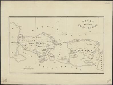 Kaart van de eilanden Balie en Lombok