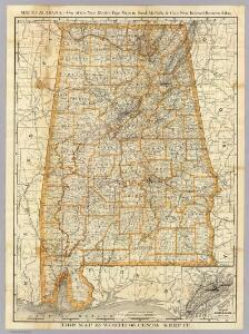 Map of Alabama.