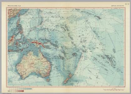 Australia and Oceania.  Pergamon World Atlas.
