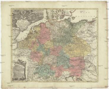 Mappa geographica exhibens postas omnes tam vehiculares quam veredarias totius Germaniae