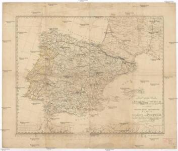 Nouvelle carte politique, militaire et routiere de l'Espagne et du Portugal
