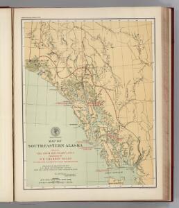 Facsimile:  Southeastern Alaska with Four Boundary Lines.