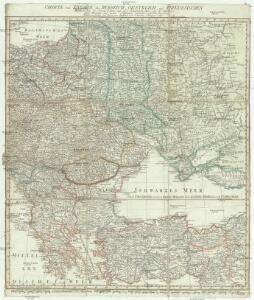 Charte von Ungarn, den russisch- oesterreich- und presussischen- Besitzungen im ehemal. Polen, ingl. dem Schwarzen meer und der Türkey