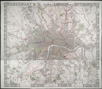CRUCHLEY'S New Plan of LONDON and its ENVIRONS
