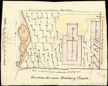 Ground plan of the new Tellichery compound.