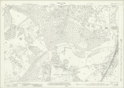 Surrey X.4 (includes: Egham) - 25 Inch Map