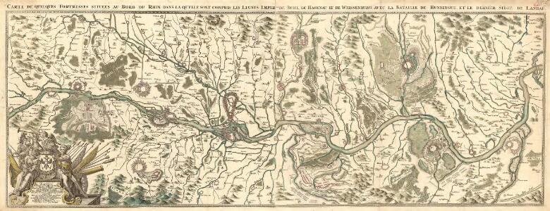 Karten Einiger an dem User deß Rheins sigender Festungen