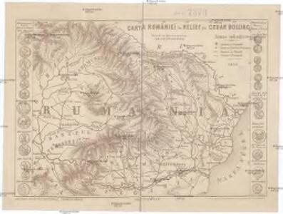 Carta Rumâniei în relief