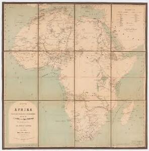Karte von Afrika nach den neuesten Forschungen : mit Angabe der wichtigsten Entdeckungswege