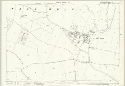 Huntingdonshire XXV.6 (includes: Eaton Socon; Hail Weston; Little Paxton) - 25 Inch Map