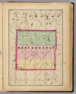 (Map of Montmorency County, Michigan)