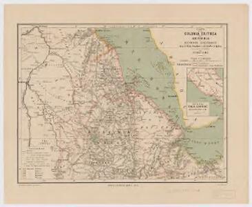Carta della colonia Eritrea coll'Abissinia : e regioni limitrofe tra il Nilo, Suakin e il Golfo d'Aden