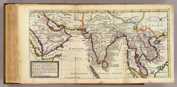 Map of the continent of the East-Indies &c