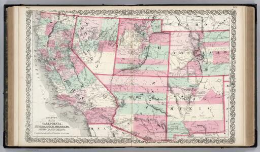 California, Nevada, Utah, Colorado, Arizona and New Mexico.