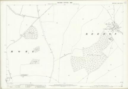 Berkshire XXVII.5 (includes: Beedon; Peasemore) - 25 Inch Map