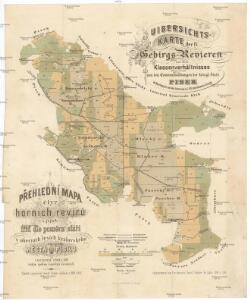 Uibersichts-Karte der IV Gebirgs-Revieren und ihres Klassenverhältnisse von der Communalwaldungen der königl. Stadt Pisek