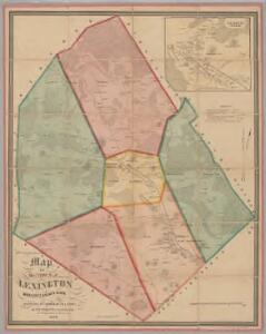 Map of the town of Lexington, Middlesex County, Mass. : surveyed by order of the town