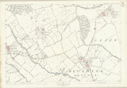 Shropshire LXVI.7 (includes: Chetton; Deuxhill; Glazeley; Middleton Scriven; Sidbury) - 25 Inch Map